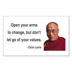 Dalai Lama 16 Rectangle Decal