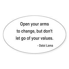 Dalai Lama 16 Oval Decal