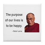 Dalai Lama 17 Tile Coaster