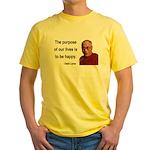 Dalai Lama 17 Yellow T-Shirt