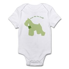 Schnauzer... Kiss Me I'm Irish! Infant Bodysuit