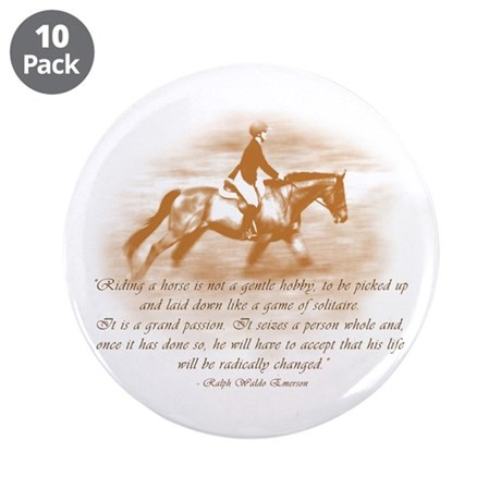 "Riding Is A Passion 3.5"" Button (10 pack)"