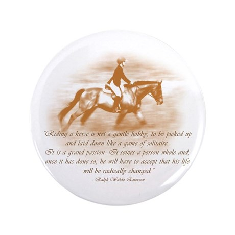 """Riding Is A Passion Equestrian 3.5"""" Button"""