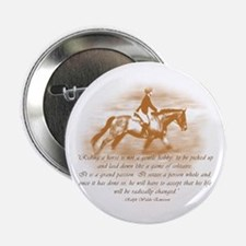 "Riding Is A Passion Equestrian 2.25"" Button"
