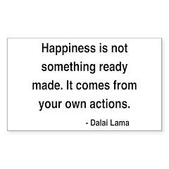 Dalai Lama 18 Rectangle Decal