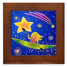 Star Kayaker Framed Tile