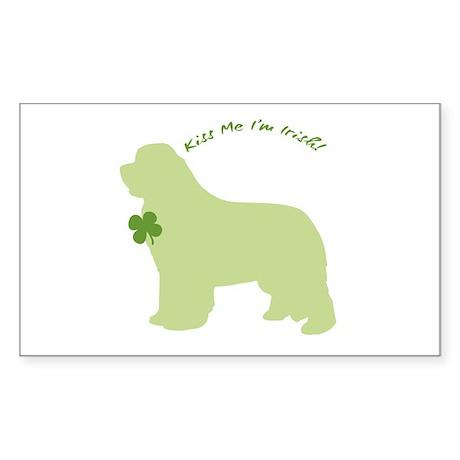 Newfie... Kiss Me I'm Irish! Rectangle Sticker