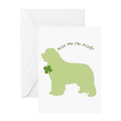 Newfie... Kiss Me I'm Irish! Greeting Card