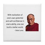 Dalai Lama 19 Tile Coaster