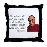 Dalai Lama 19 Throw Pillow