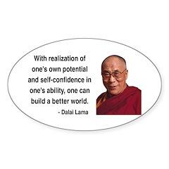 Dalai Lama 19 Oval Decal