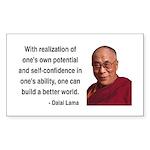 Dalai Lama 19 Rectangle Sticker