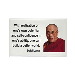 Dalai Lama 19 Rectangle Magnet