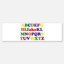 Jake - Alphabet Bumper Bumper Bumper Sticker