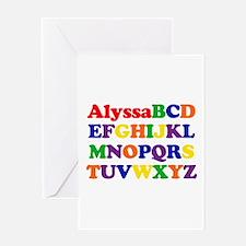 Alyssa - Alphabet Greeting Card