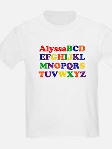 Alyssa - Alphabet T-Shirt