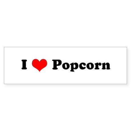 I Love Popcorn Bumper Sticker