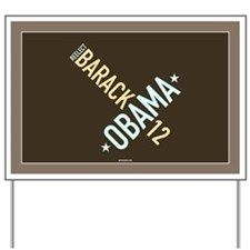 Twisted Brown Obama Yard Sign