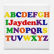 Jayden - Alphabet Tile Coaster