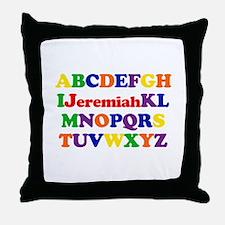Jeremiah - Alphabet Throw Pillow