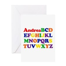 Andrea - Alphabet Greeting Card