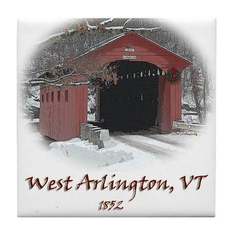 West Arlington Covered Bridge Tile Coaster