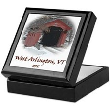 West Arlington Covered Bridge Keepsake Box