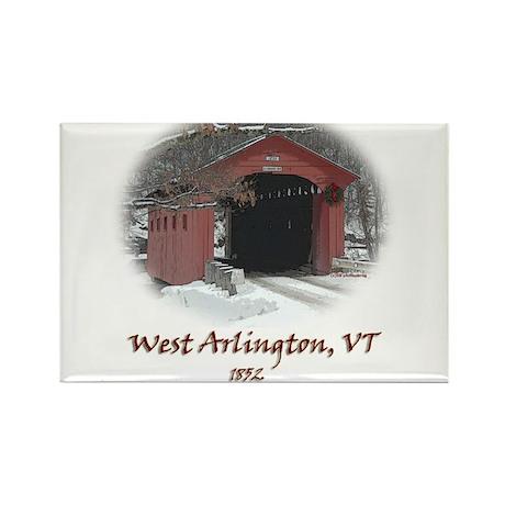 West Arlington Covered Bridge Rectangle Magnet
