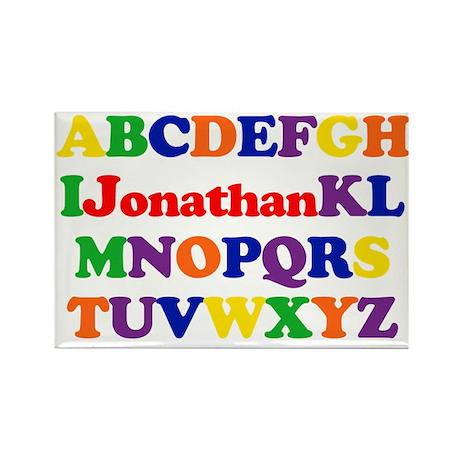 Jonathan - Alphabet Rectangle Magnet