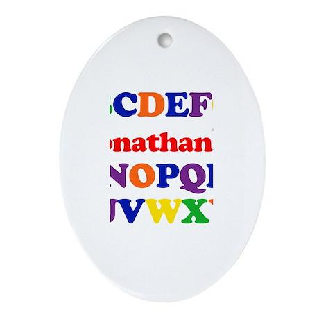 Jonathan - Alphabet Oval Ornament