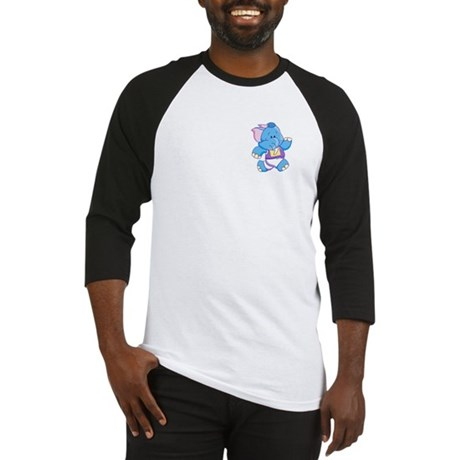 Lil Blue Elephant Runner Baseball Jersey
