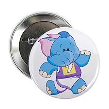 """Lil Blue Elephant Runner 2.25"""" Button"""
