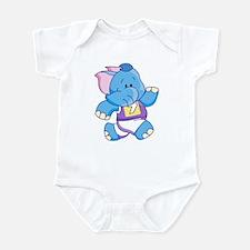 Lil Blue Elephant Runner Infant Bodysuit