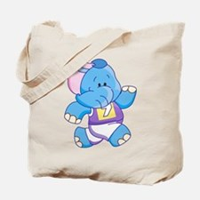 Lil Blue Elephant Runner Tote Bag