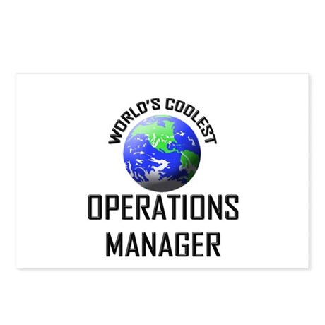 World's Coolest OPERATIONS MANAGER Postcards (Pack
