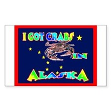 I Got Crabs in Alaska Rectangle Decal