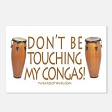 Don't Touch Congas Postcards (Package of 8)