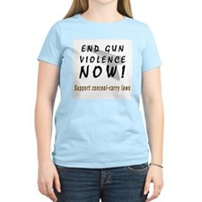 End Gun Violence Now Women's Pink T-Shirt