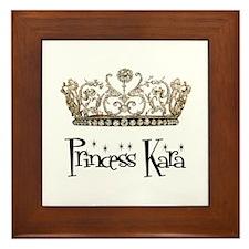 Princess Kara Framed Tile