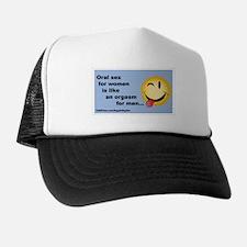 Oral sex women orgasm Trucker Hat