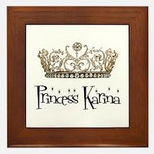 Princess Karina Framed Tile