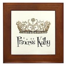 Princess Kathy Framed Tile