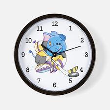 Lil Blue Elephant Hockey Wall Clock
