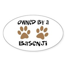 Owned By A Basenji Oval Decal