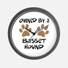 Owned By A Basset Hound Wall Clock