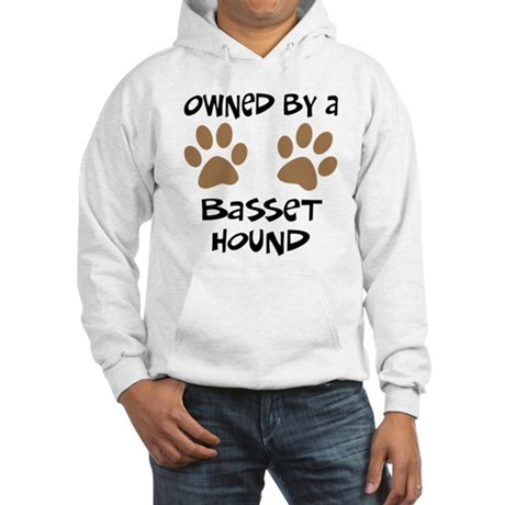 Owned By A Basset Hound Hooded Sweatshirt
