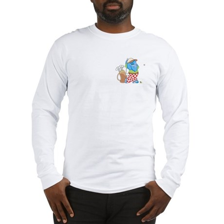 Lil Blue Elephant Golfing Long Sleeve T-Shirt