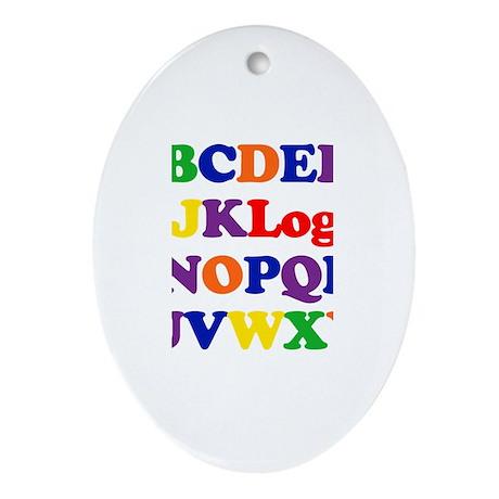 Logan - Alphabet Oval Ornament