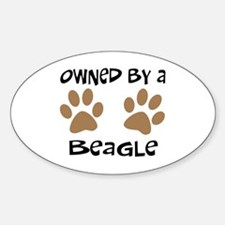Owned By A Beagle Oval Decal