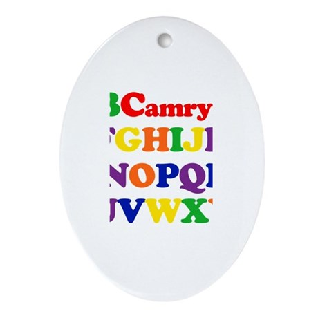 Camryn - Alphabet Oval Ornament